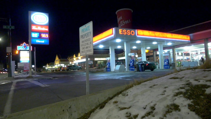 A stabbing victim walked into this Esso on 17th Avenue S.E. Wednesday night at 6:29 p.m.