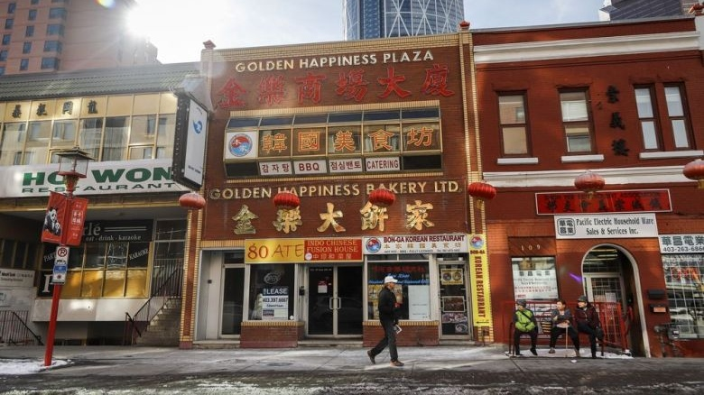 Businesses in Chinatowns across Canada have reported a drop in activity since COVID-19 hit China in January and started to spread around the world. The streets are quite in Chinatown in Calgary, Alta., Wednesday, Feb. 26, 2020. Jeff McIntosh / THE CANADIAN PRESS