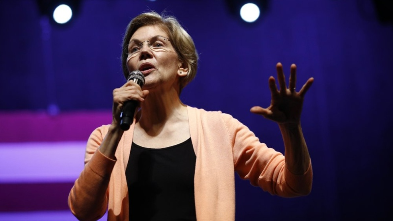 Democratic presidential candidate Sen. Elizabeth Warren, D-Mass., speaks at a campaign event with performer John Legend, Wednesday, Feb. 26, 2020, at Charleston Music Hall in Charleston, S.C. (AP Photo/Patrick Semansky)