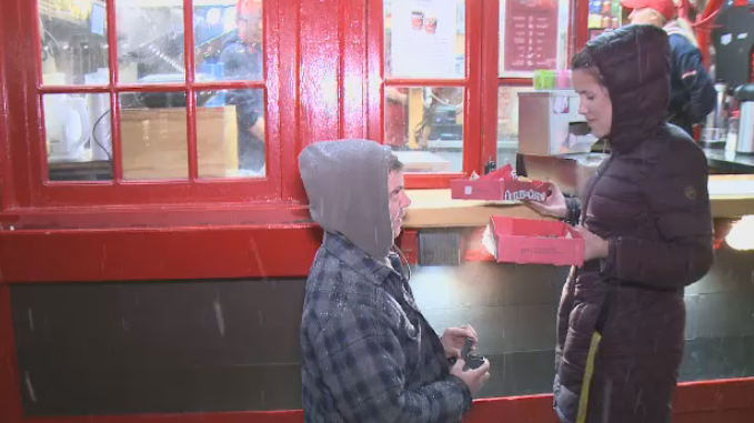 An Ottawa couple got engaged with the help of a Beavertail