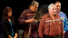 Justice Murray Sinclair, Chair of the Truth and Reconciliation Commission, at a ceremony on July 16, 2009. (CP / Sean Kilpatrick)