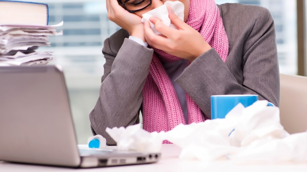 The threat of a virus spreading at work raises a perennial issue: What can a manager ask employees to do when they're showing signs of being sick? Or when their employees are worried about being exposed to a contagious illness? (Shutterstock)