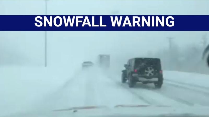 Montreal snowfall warning