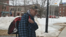 Vaughn Barnett arrives at Fredericton provincial court on Feb. 27, 2020.