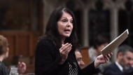 Conservative MP Cathay Wagantall asks a question during Question Period in the House of Commons on Parliament Hill in Ottawa on Friday, May 4, 2018. THE CANADIAN PRESS/Justin Tang