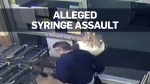Video shows U.S. man allegedly jabbing woman with