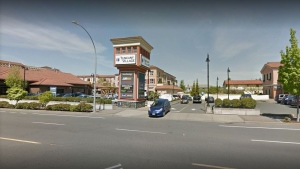 Police say the man entered the Subway restaurant in the Tuscany Village shopping centre in the 1600-block of McKenzie Avenue shortly after 5 p.m. Wednesday. (Google Maps)
