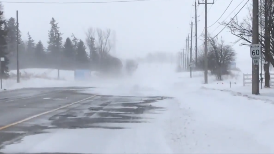 Police closed Fischer-Hallman Road between Bleams and Seabrook due to poor visibility. (@vidman / Twitter)