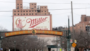 The Molson Coors facility is seen Thursday Feb. 27, 2020, in Milwaukee. An employee at the historic Molson Coors facility shot and killed five co-workers Wednesday afternoon and then turned the gun on himself. Six people, including the shooter, were killed on Wednesday, Feb. 26, 2020 at the facility. (AP Photo/Morry Gash)