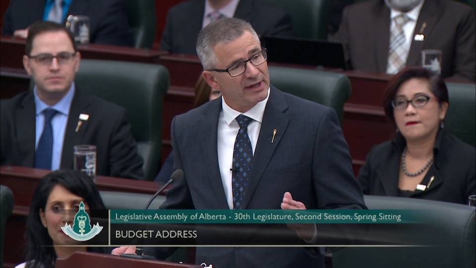 Alberta finance minister Travis Toews, Budget 2020