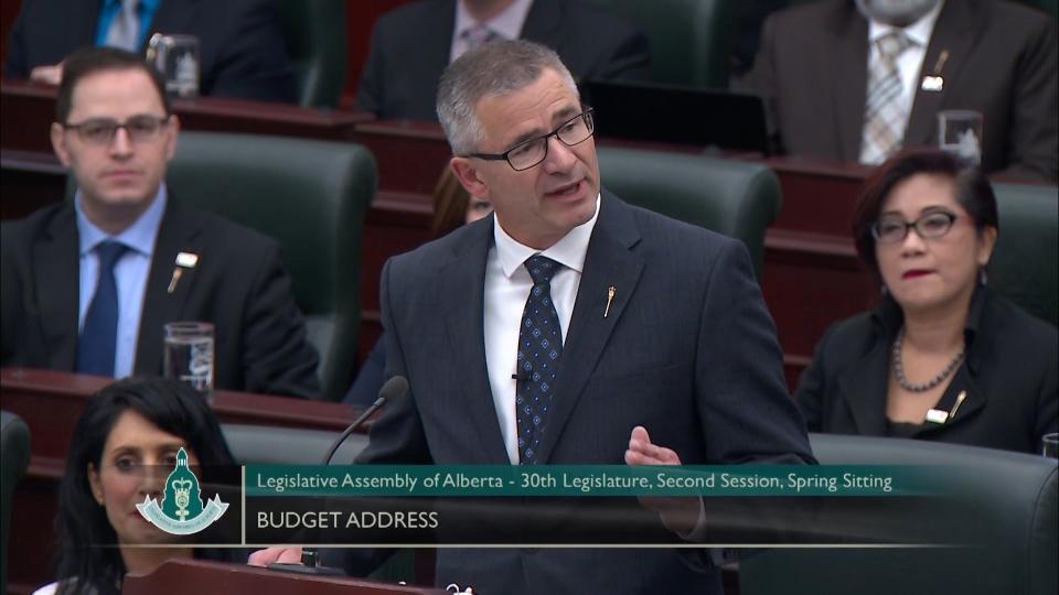 Alberta finance minister Travis Toews, Budget 2020