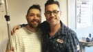 Stephen Gillis (left) and his kidney donor, Michael Teigen (right), are on the mend after a successful transplant.