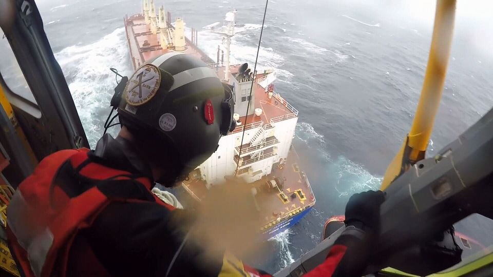 Members of the Joint Rescue Coordination Centre (JRCC) responded to two challenging rescues off the coast of Vancouver Island earlier this week: (Lt Cdr. Kaighley Brett)