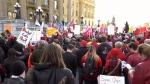 Alberta legislature protest