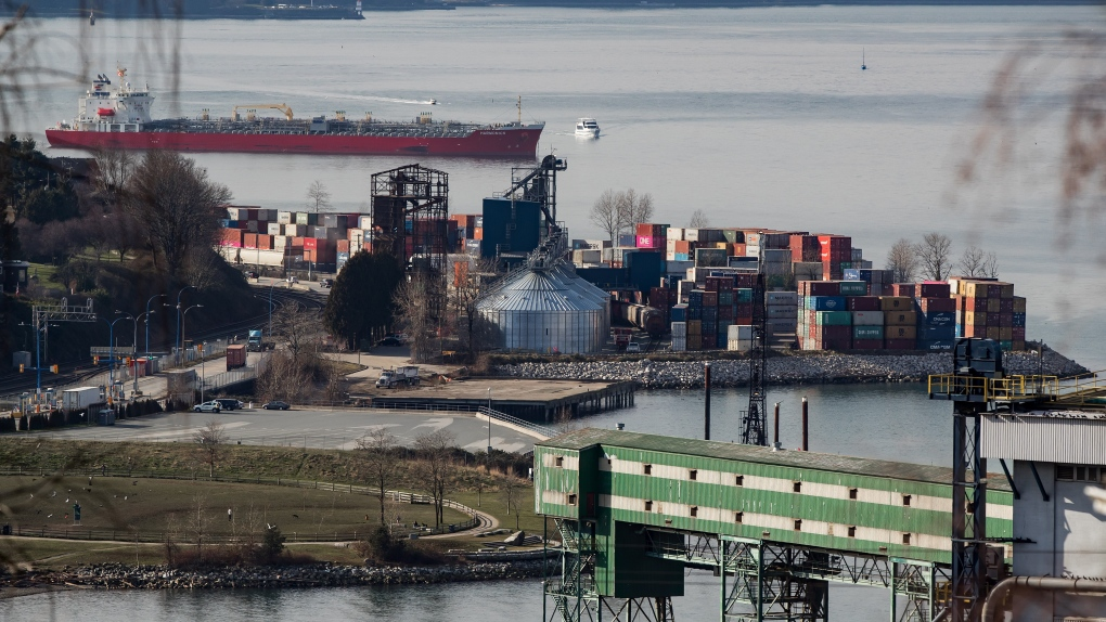 Cargo containers Vancouver port