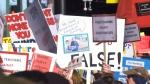 Education protest at legislature