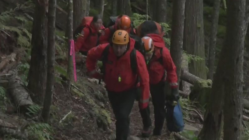Island man rescued after falling onto cliff ledge