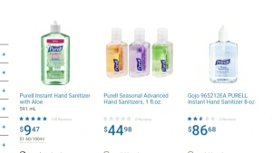 Hand sanitizer sales spike