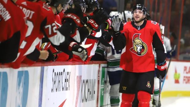 Ryan has hat trick for Senators after three months in league assistance program