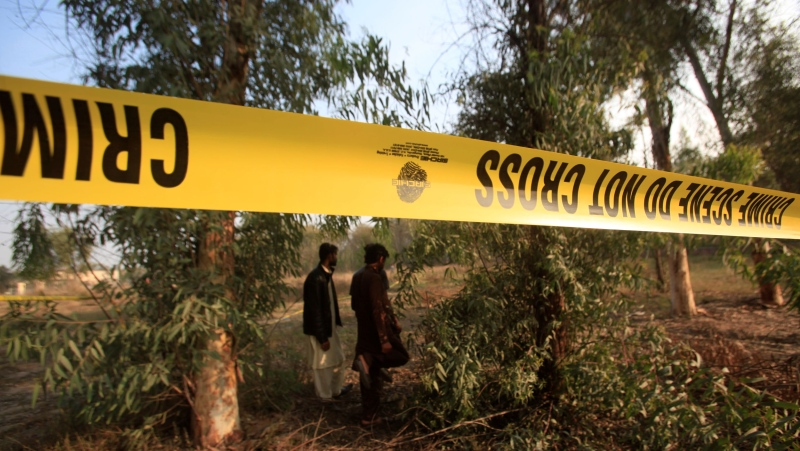 Police are investigating after human remains were found inside a lion enclosure at a zoo in Pakistan. (Mohsin Raza/Reuters/CNN)