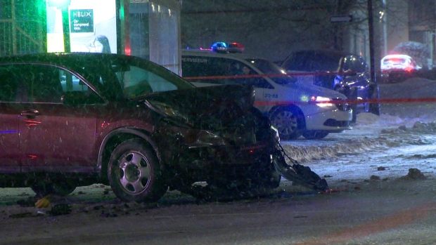 Woman in critical condition after collision in Saint-Michel