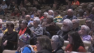 Hundreds gathered in Sackville, N.B., on Feb. 26, 2020, for a community meeting.