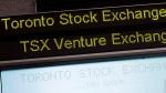 The Toronto Stock Exchange Broadcast Centre is shown in Toronto, Friday, June 28, 2013. THE CANADIAN PRESS/Aaron Vincent Elkaim