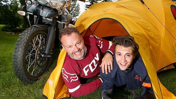 Jamie Clarke and his son Khobe spent a month travelling together through Mongolia. (jamieclarkeadventures / Instagam)