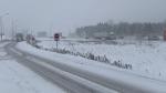 Slow drive along Highway 400 February 28, 2020 (Craig Momney / CTV News)