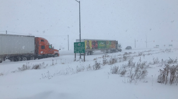 Stranded in Minesing, more than 20 drivers stuck overnight