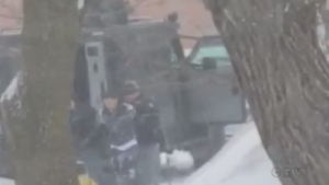 Watch the video of one of the three arrests made at the Sleep Inn on Bay Street in Sault Ste. Marie. Feb. 28/20 (Jairus Patterson/CTV Northern Ontario)
