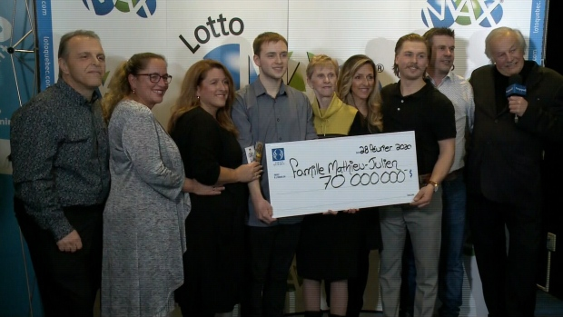 Gregory Mathieu, 22, has won $70 million in the Lotto Max.