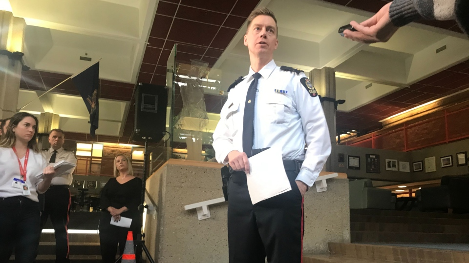 EPS Informatics Division Supt. Warren Driechel takes questions about the force's intended use of Clearview AI after the company's customer list was stolen in a breach.
