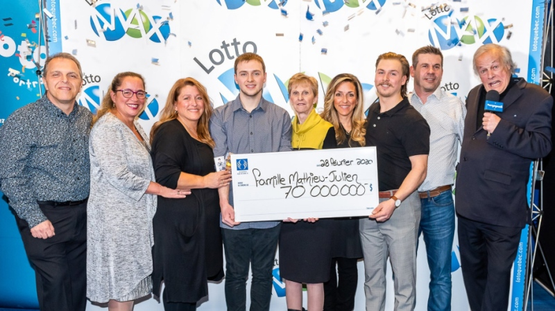 Twenty-two-year-old Grégory Mathieu won a $70M Lotto Max jackpot. (Source: LotoQuebec / Twitter)