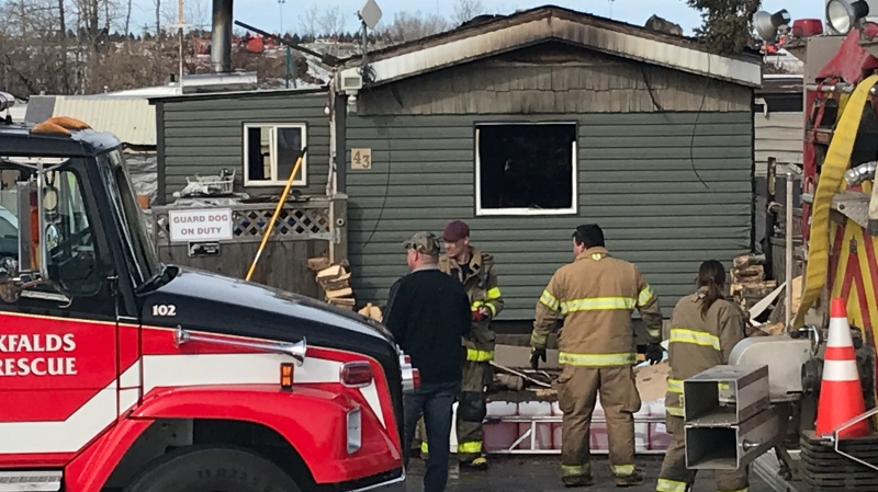 Officials say a seven-year-old's body was found following a multi-home fire in Red Deer County on Feb. 28, 2020. Four others were taken to hospital.