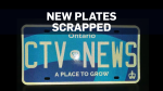 Ontario plates scrapped