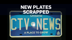 Ontario plates scrapped