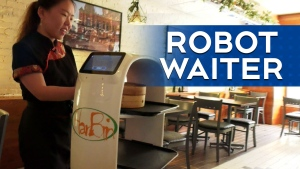 Show and tell: Meet Johnny Boy, the robot waiter