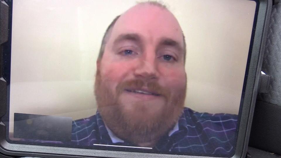 John Laforet speaking via Facetime