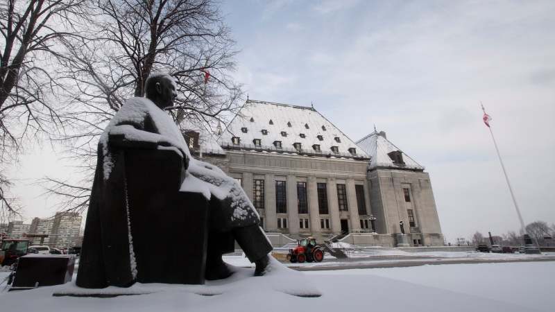The Supreme Court of Canada is seen, Thursday January 16, 2020 in Ottawa. The Supreme Court of Canada is set to decide whether a human-rights lawsuit against a Canadian mining company can be heard in British Columbia, even though it involves events in Eritrea. THE CANADIAN PRESS/Adrian Wyld