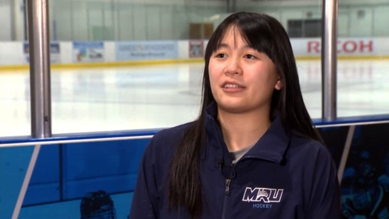 She's the smallest player on the MRU Cougars women's team, but may have the biggest heart. She's our Athlete of the Week, Tianna Ko. Glenn Campbell reports.