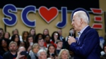 Democratic presidential candidate former Vice President Joe Biden speaks during a campaign event, Friday, Feb. 28, 2020, in Spartanburg, S.C. (AP Photo/Matt Rourke)