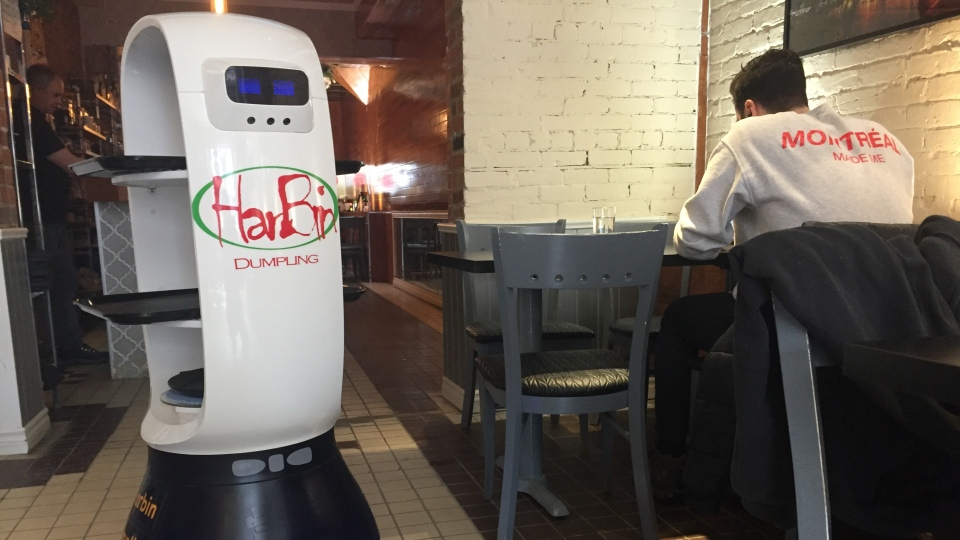 Johnny Boy robot waiter