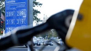 In this Oct. 30, 2017, file photo, gasoline prices are displayed at a Chevron station in Sacramento, Calif. (AP Photo/Rich Pedroncelli, File)