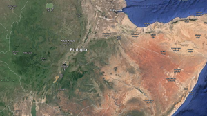 A map of Ethiopia is seen in this Google Maps image.