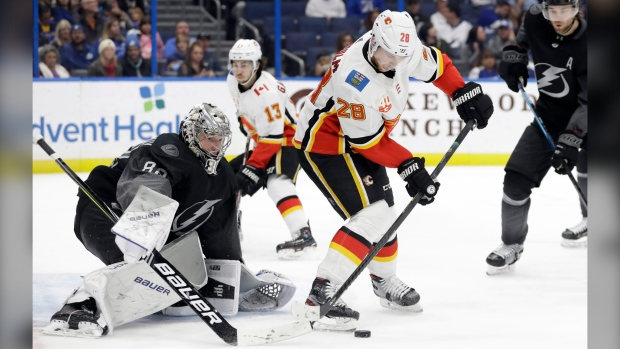 Flames fall to Tampa Bay Lightning, look to rebound against Florida Panthers