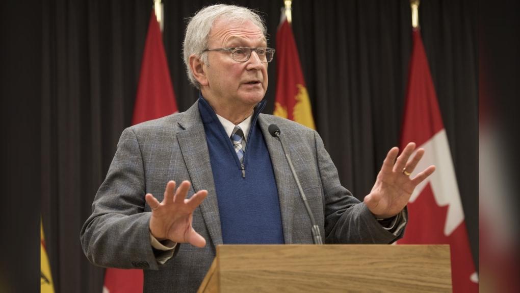 New Brunswick Premier Blaine Higgs speaks to media