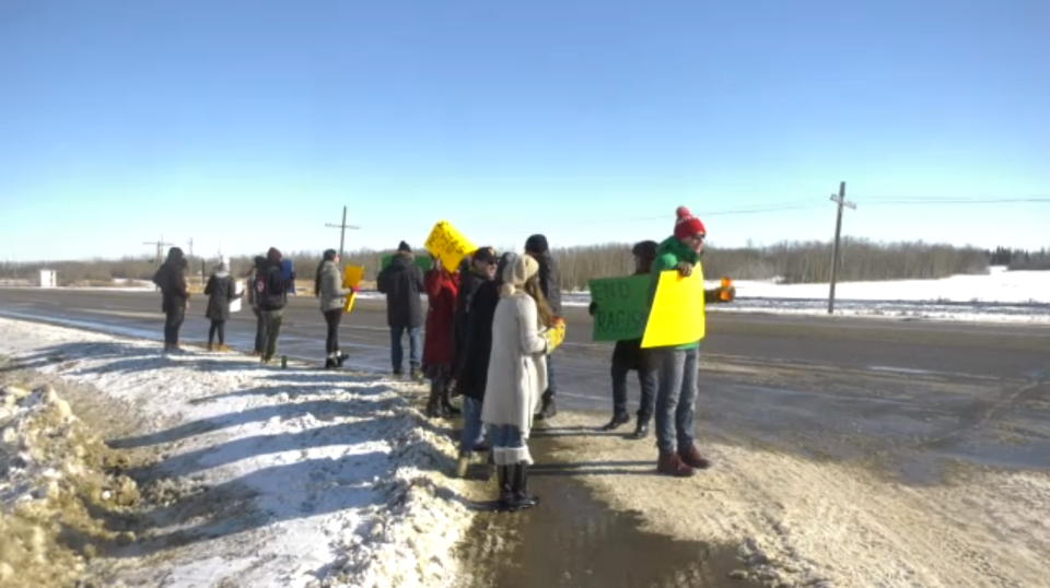 Maskwacis protesters