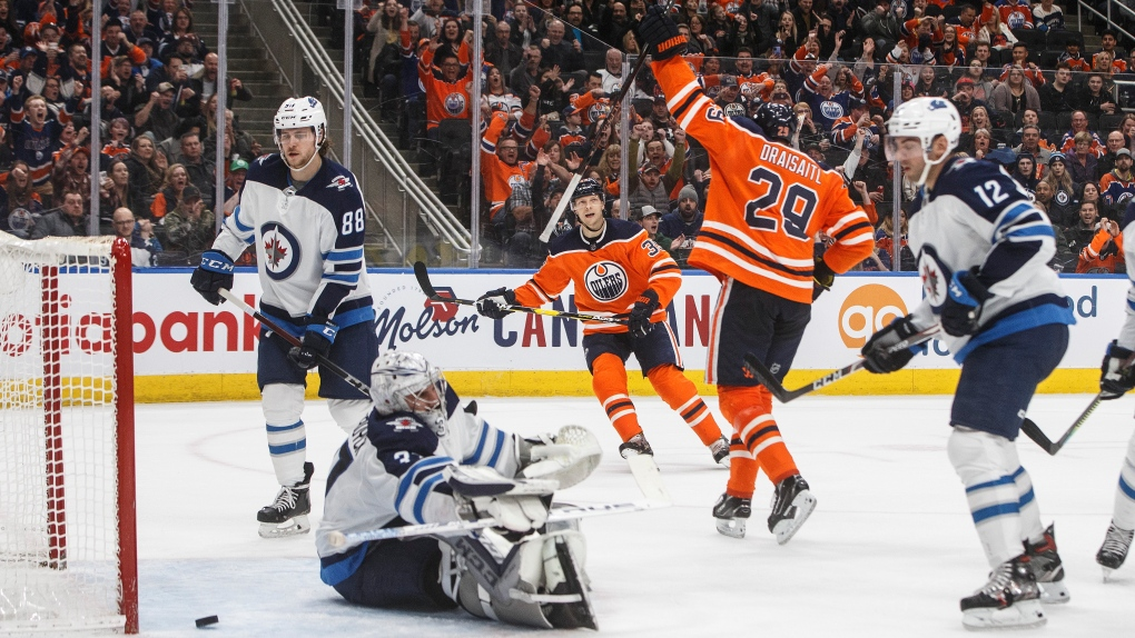 Jets lose to oilers