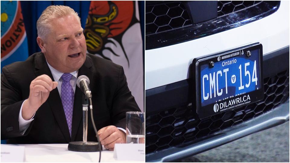 Doug Ford, licence plates
